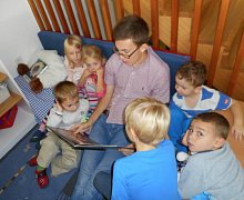 Alexander Wiesinger s dětmi.