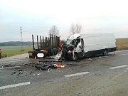 Těžce zraněný řidič letěl do nemocnice
