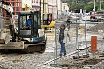 Rekonstrukce Žižkovy ulice v Českých Budějovicích.