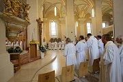 Socha Panny Marie Fatimské přicestovala za věřícími do Českých Budějovic.
