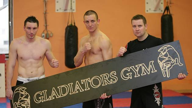 Trojice trenérů Gladiators gym: zleva Michal Novák, Jan Mraček a Pavel Holý.