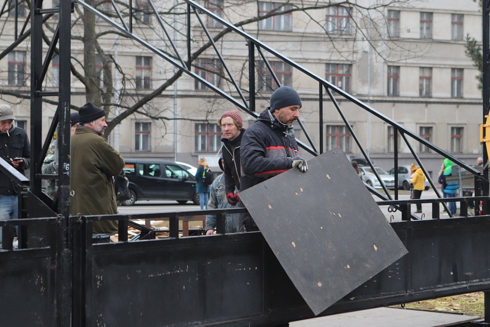 Petr Forman a Bouda v Českých Budějovicích