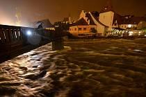 Povodně navštívily Č. Krumlov i v roce 2013.