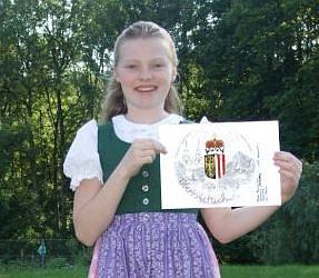 Nakreslila zvláštní minci.