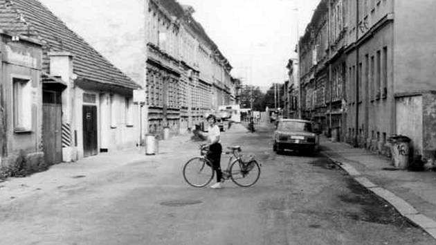 Riegrova ulice v roce 1987.