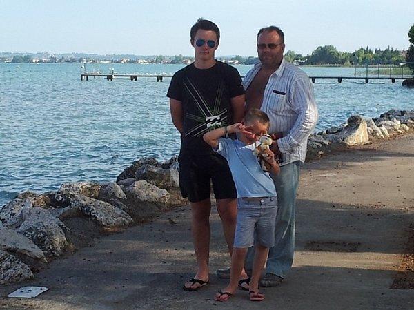 Jan Maxa se syny loni na dovolené vItálii.