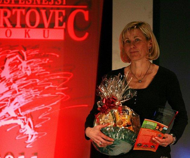 Vyhlášení ankety Sportovec roku 2011 v českobudějovickém domu kultury Metropol. 3. Šárka Grabmüllerová (triatlon, B&H Triatlon ČB) - 93