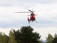 Jihočeští letečtí záchranáři cvičili v Plané