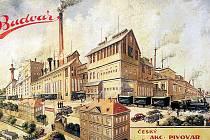 Obraz Českého akciového pivovaru ukazuje podobu podniku v roce 1937.