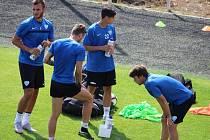 Fotbalové Táborsko bude hrát II. ligu od letoška na rekonstruovaném stadionu v Kvapilově ulici. První trénink zde si v tomto týdnu hráči pochvalovali.