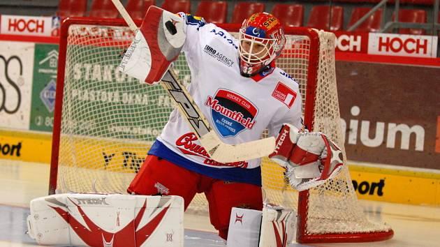 Brankář Jan Chábera se v nejbližších  dnech opět objeví na střídačce hokejistů HC Mountfield.