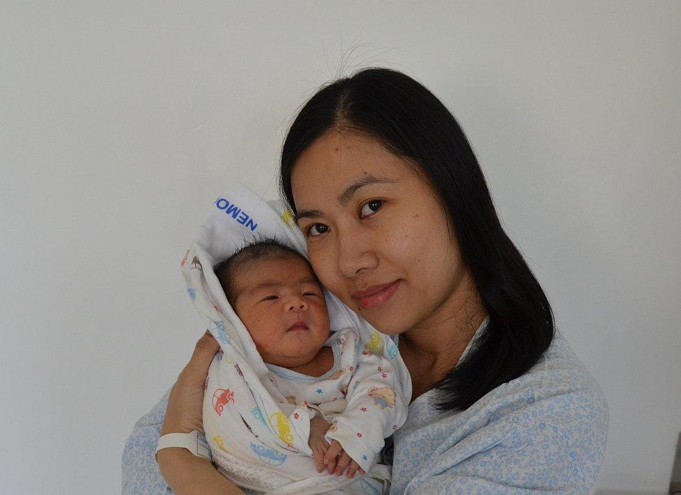 Hoang Duc Thang z Dívčic. Syn Pham Thi Ha a Hoang Van Thanh se narodil 3. 6. 2021 v 8.48 h. a vážil 3,85 kg. Doma se na brášku těšila 4letá sestra Hoang Pham Bich Thao.