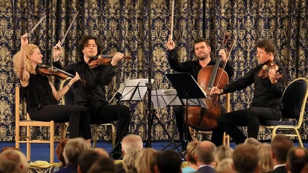Pavel Haas Quartet koncertoval 15. srpna na českokrumlovském Mezinárodním hudebním festivalu.