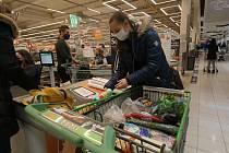 Předvánoční nákupy v českobudějovickém Globusu