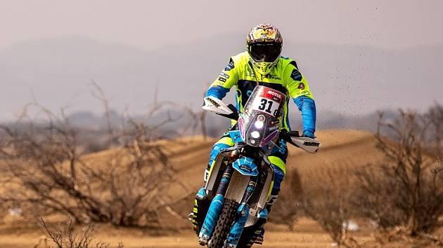 Martin Michek na trati Rallye Dakar.