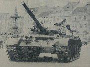 V noci na 21. srpna na valníku dorazil z vojenského muzea v Lešanech před budovu Národního muzea v Praze tank typu T 54b, ze kterého se v roce 1968 střílelo na Vinohradské třídě.