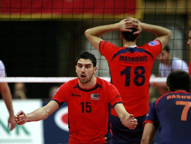 CEV 2014 volleyball champions league, utkání mezi VK Jihostroj České Budějovice a Budvanska Rivijera Budva.