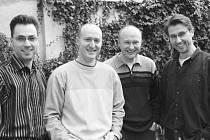 The Swings zleva -  Pavel Švestka, Petr Jindra, Jiří Hruška, Petr Hanzlík.