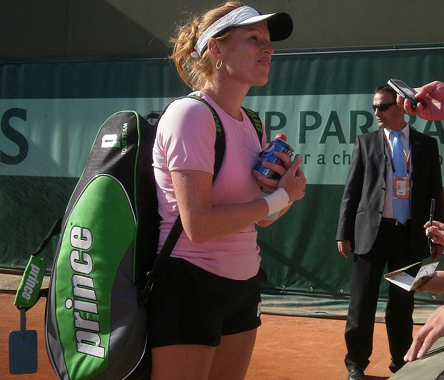 Vladimíra Uhlířová na letošním French Open