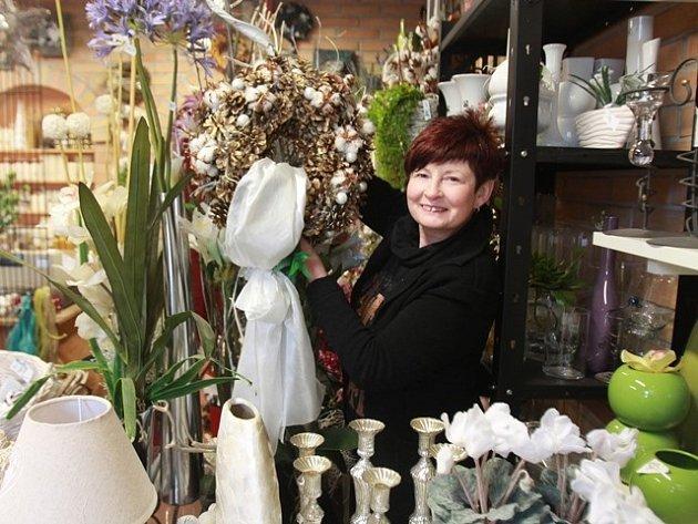 Trendy Vánoc představila floristka Drahoslava Vobořilová