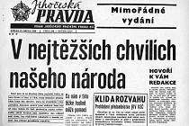 Invaze vojsk pěti komunistických zemí Varšavské smlouvy do Československa začala v noci z úterý 20. srpna na středu 21. srpna 1968.
