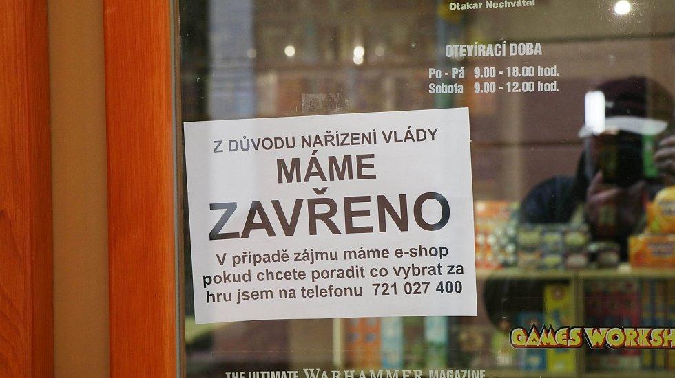 První den karantény v Českých Budějovicích