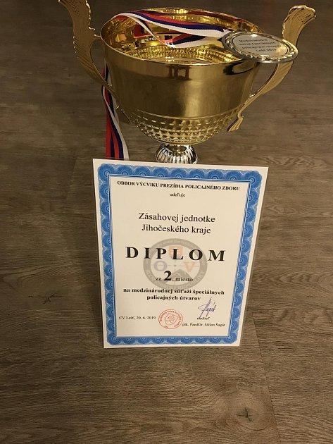 Zmezinárodní soutěže si jihočeská zásahovka přivezla druhé místo.