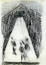 V knize Ostnaté vzpomínky vzpomíná malíř Karel Valter (1909 - 2006) na nejhorší část svého života, nacistickou okupaci a své věznění v Táboře, Terezíně a Buchenwaldu. Na snímku kresba Dozorci.