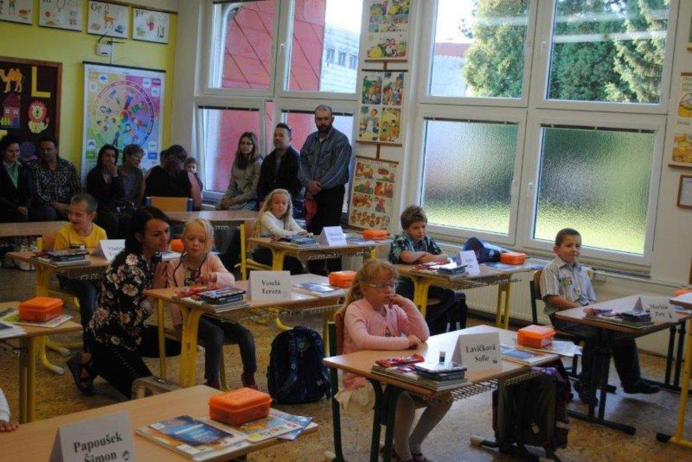 První školní den v Horní Stropnici.