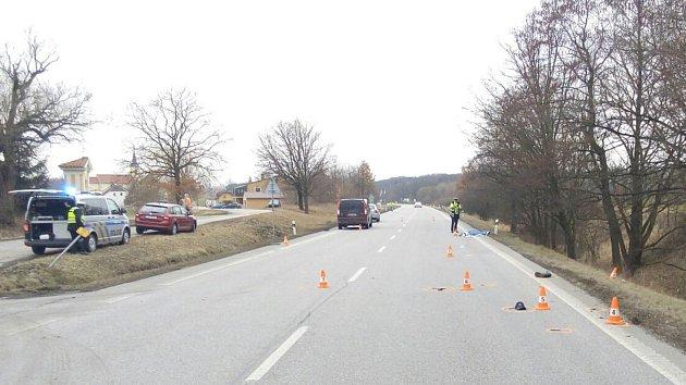Tragický střet cyklisty s dodávkou