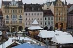Vánoční trh na českobudějovickém náměstí. Ilustrační foto.
