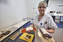 Transfuzní oddělení českobudějovické nemocnice odebírá od dárců krev i krevní plazmu.