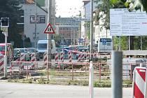 Kolony na Lidické. Rekonstrukce křižovatky potrvá do konce září.