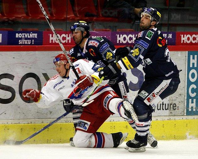 Utkání  hokejové O2 ELH mezi HC Mountfield České Budějovice a Bílí Tygři Liberec.
