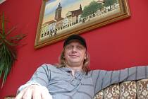 Jozef Sabovčík v hotelu Savoy v Českých Budějovicích