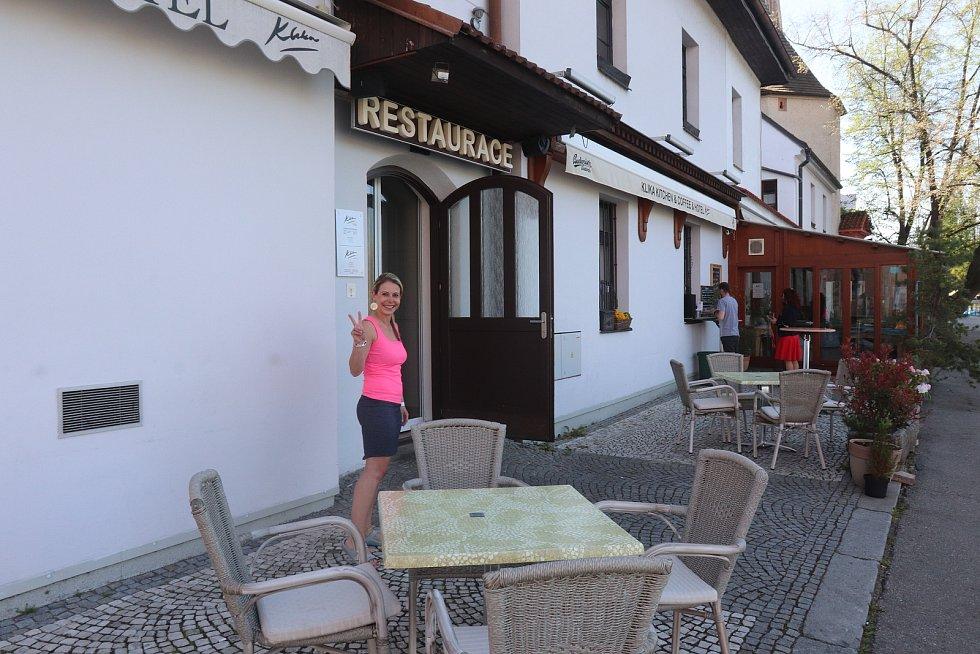 Restaurace Klika u Slepého ramene v Budějovicích.