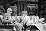 Jedna z jejích zásadních rolí, Zlaté jezero, role Ethel Thayerová, na snímku s Karelm Rodenem, 1986.