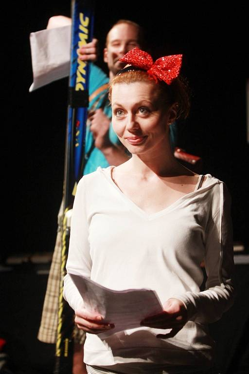 Projekt scénického čtení Listování oslavil 30. listopadu v Českých Budějovicích deset let. Na snímku Věra Hollá.