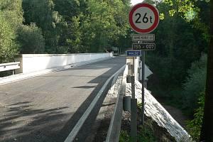 Most u Římova po velké rekonstrukci.