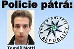 Pohřešovaný Tomáš Mottl, ročník 1994 z Českobudějovicka.
