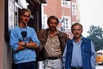 Jan Proško (uprostřed) se synem Martinem (vlevo) navštívili Karla Kryla v Mnichově.
