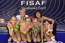 Reprezentantky SK Holiday Fitness Clubu České Budějovice se dobrými výkony prezentovaly na MS v Bělehradě.