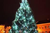 Vánoční strom ve Veselí nad Lužnicí.
