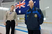 Josef Rezek (vlevo), jihočeský hokejový vyslanec úspěšně působí v daleké Austrálii.