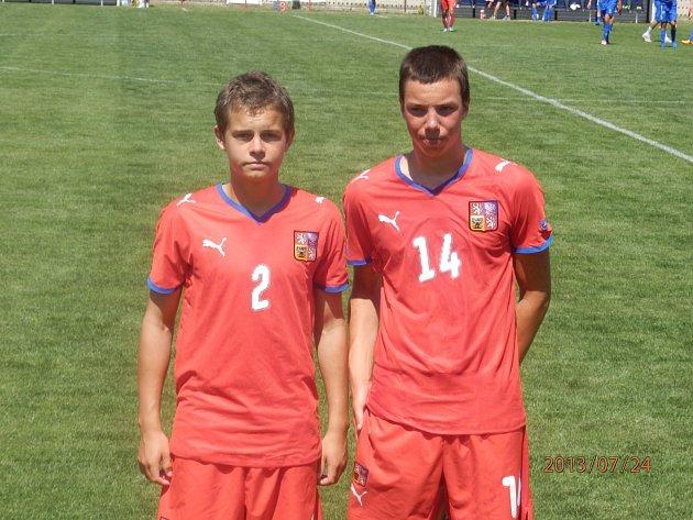 Petr Řehoř (vlevo) a Jan Chylík  z Dynama v reprezentaci ČR U16