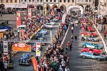 Start South Bohemia Classic, závodu veteránských automobilů, v Českých Budějovicích. Foto: Ondřej Kroutil, České Budějovice