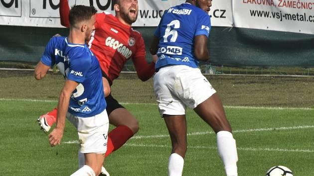 Gól z penalty rozhodl o tom, že si Chrudim vezla od Jordánu všechny tři body. Ta penalta se pískala po tomto zákroku Ngimbiho na Kopeckého a dle domácích fanoušků  byla hodně přísná.