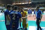 Jihostroj - Ústí čtvrtfinále extraligy volejbalistů.