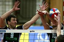 Zápas Uniqua volejbalové ligy mužů 2. února mezi VK Jihostroj České Budějovice a Fatra Zlín.
