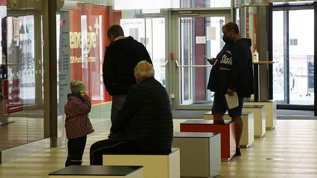 Pohled do distribučního centra E.ON v Českých Budějovicích.